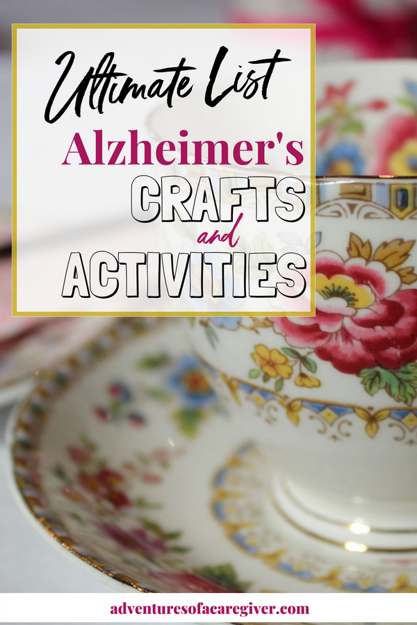 Over 75 activities and crafts for Alzheimer's and dementia patients