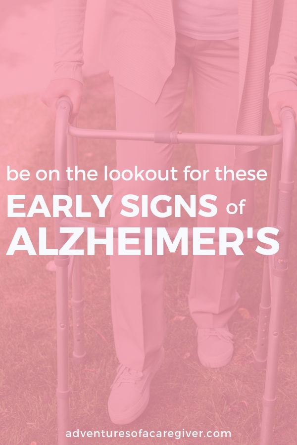 The early signs of Alzheimer's can be hard to detect. What should you look for?