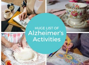 Huge list of crafts and activities for Alzheimer's and dementia patients.