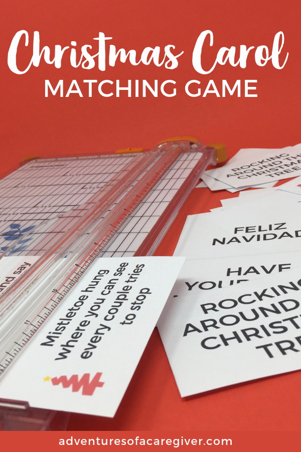 Easy and fun Christmas Carol Matching Game. Perfect for seniors with Alzheimer's or dementia.