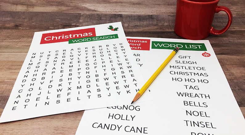 Senior Friendly Christmas Word Search Printable