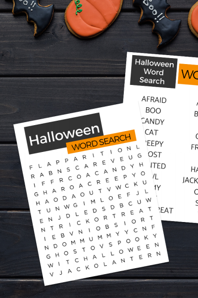 Easy to find words and large print make this Halloween Word Search perfect for seniors with Alzheimer's or dementia.