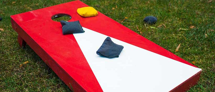 Cornhole is a fun large motor activity for seniors with Alzheimer's or dementia.