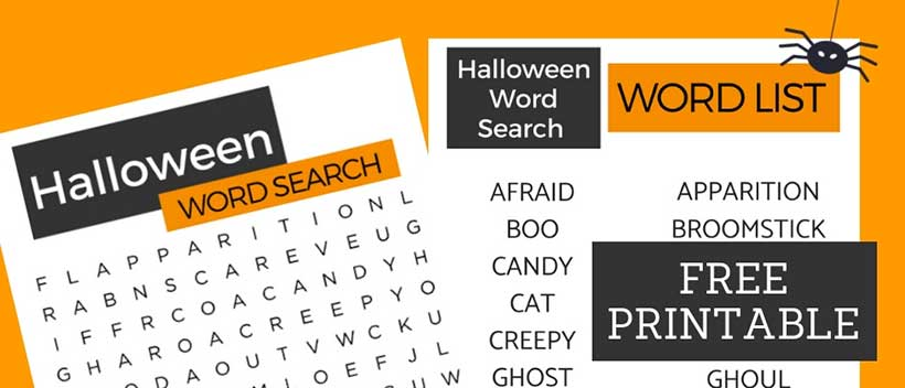 This easy Halloween Word Search was designed especially for seniors with Alzheimer's.