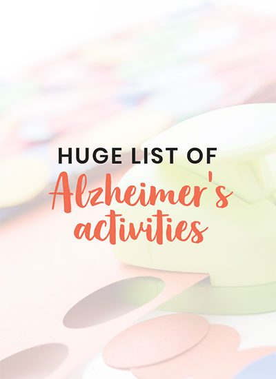 Stimulating activities for dementia patients