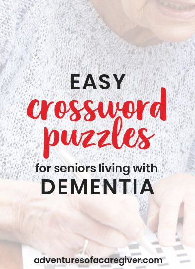 Easy Crossword Puzzles for Seniors Living with Dementia