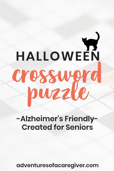 Easy Halloween Crossword Puzzle for Seniors