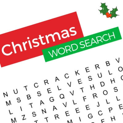 Christmas Word Search Dementia Activity