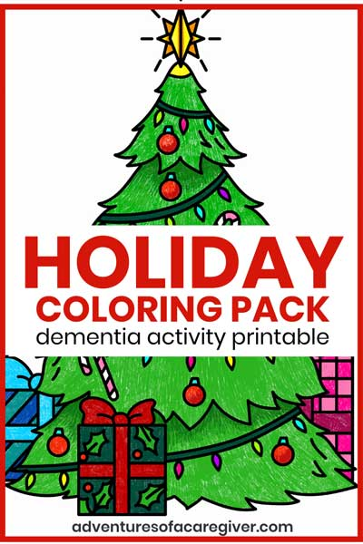 Holiday Coloring Pack Dementia Activity