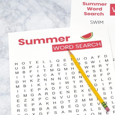 Summer Word Search Dementia Activity