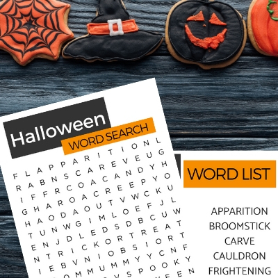 Halloween Word Search Dementia Activity