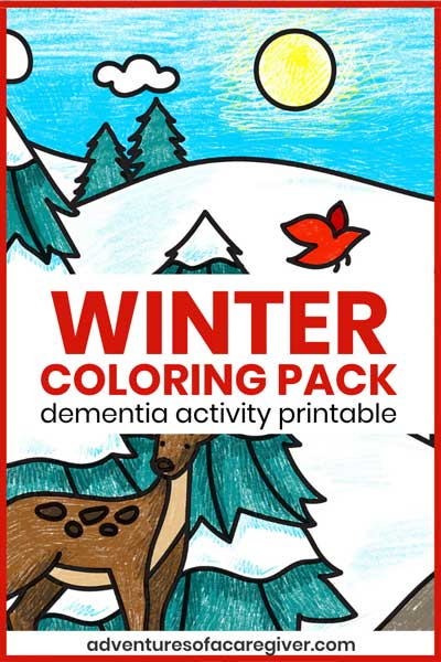 Winter Coloring Pack Dementia Activity