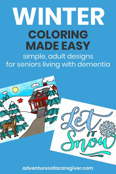 Easy winter coloring pages dementia activity
