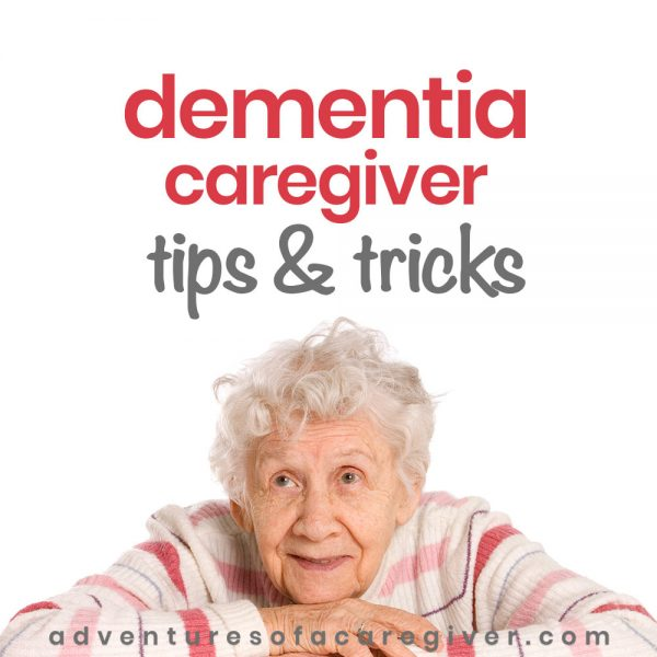 Woman with dementia - dementia caregiver tips