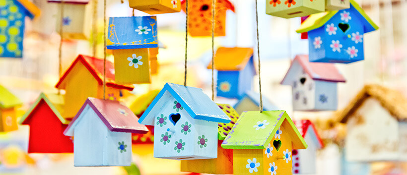 Bird houses for dementia activity