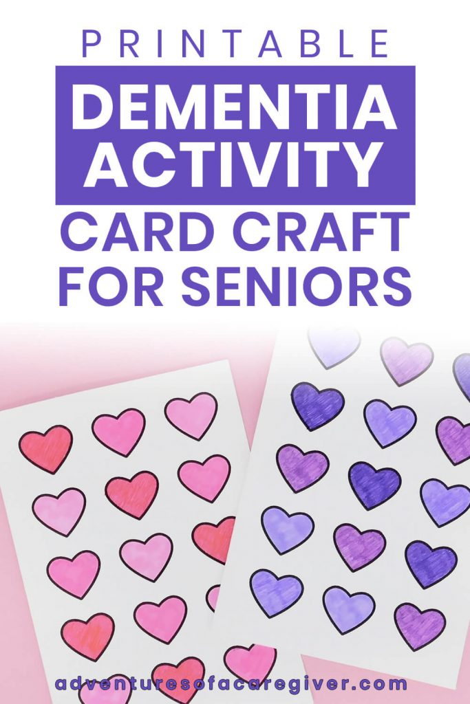 Printable Dementia Activity DIY Card