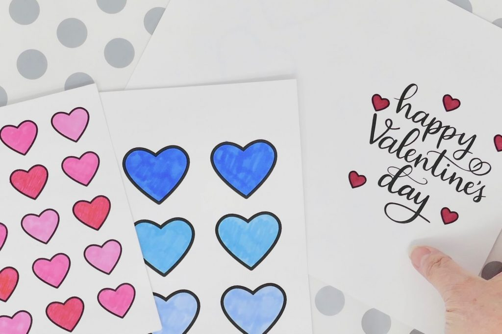 Dementia Activity Valentine Card Craft 3