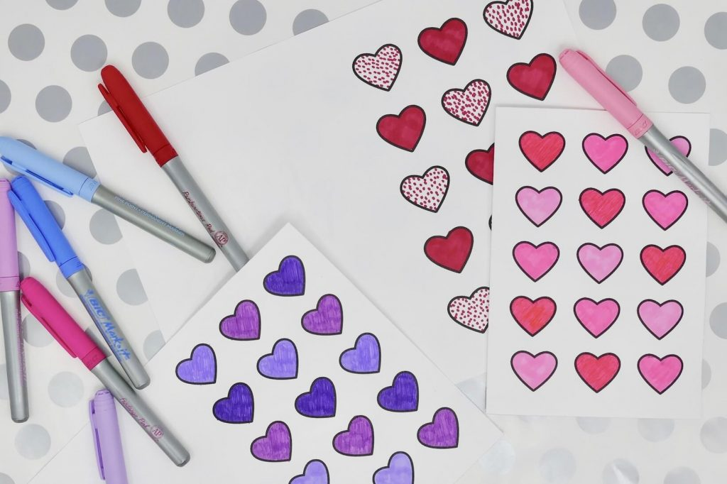 Dementia Activity Valentine Card Craft Coloring 4