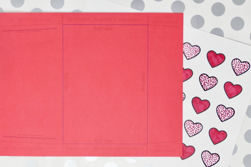 Dementia Activity Valentine Card Craft Envelope and Card