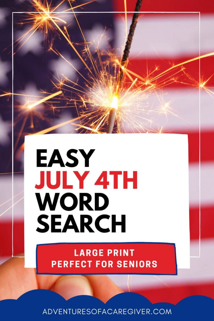 July 4th Word Search for Seniors