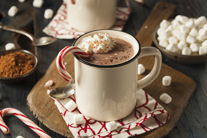 Cup of hot chocolate at Christmas for seniors with dementia