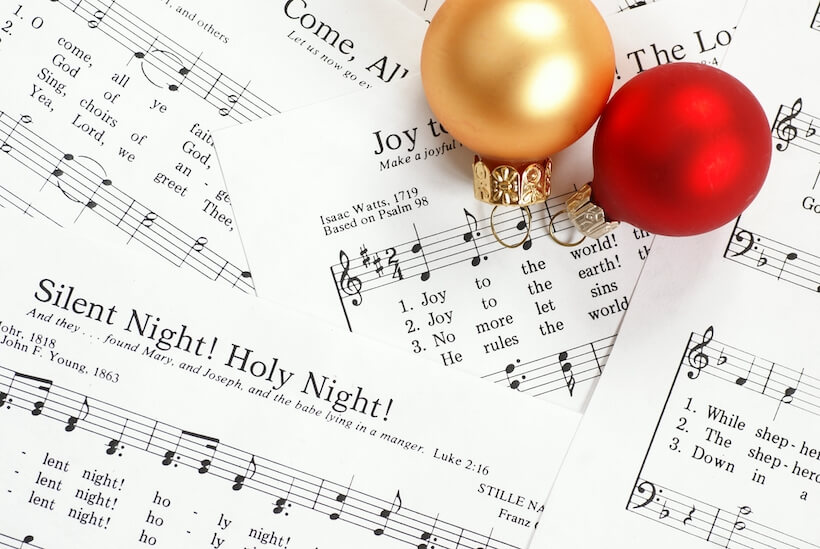 Christmas sheet music for dementia activity