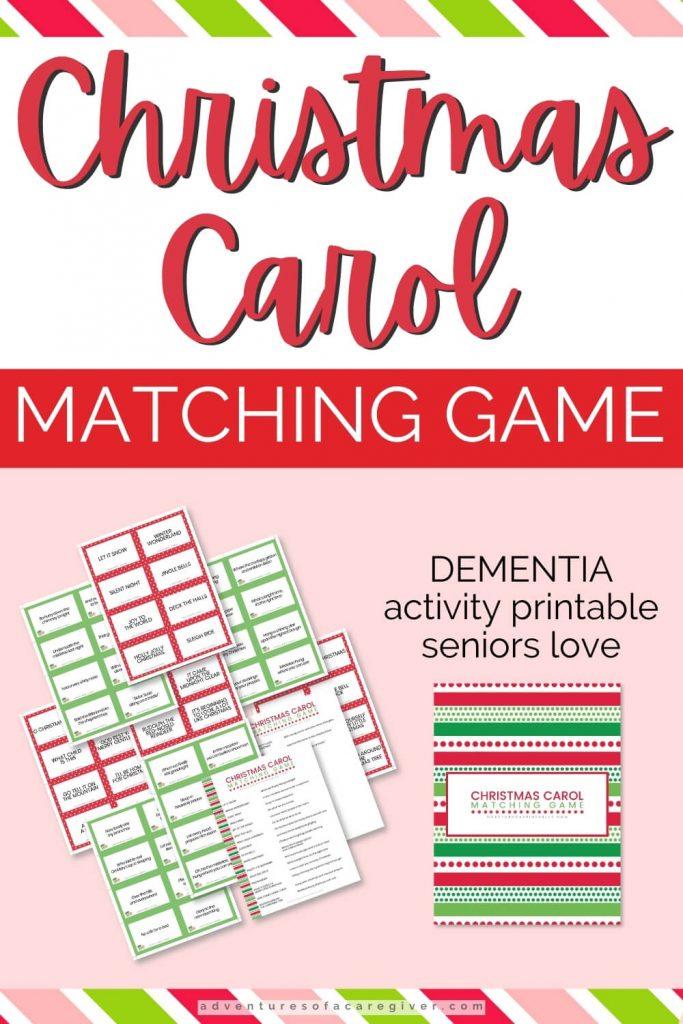 Christmas Carol Matching Game Dementia Activity
